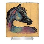The Horse Portrait 1 Shower Curtain