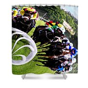 The Horse Race Shower Curtain
