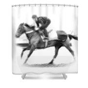 The Horseman Shower Curtain