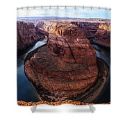 The Horseshoe River At Ultra High Resolution Shower Curtain