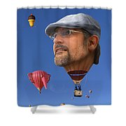 The Hot Air Surprise Shower Curtain