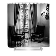 The Hotel Lobby Shower Curtain