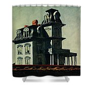 The House By The Railroad Shower Curtain