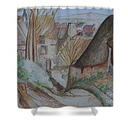 The House Of The Hanged Man After Cezanne Shower Curtain