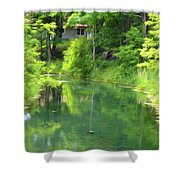 The House On The Bank Of The Lake Shower Curtain