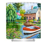The House Pond Shower Curtain
