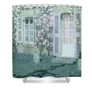 The House With Roses Shower Curtain