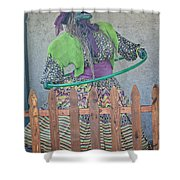 The Hula Hoop Witch Shower Curtain