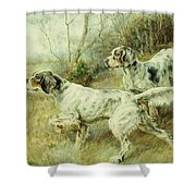 The Hunt Shower Curtain by Edmund Henry Osthaus