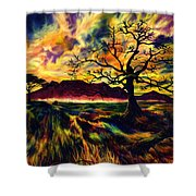 The Hunter Shower Curtain by Kd Neeley