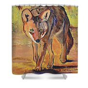 Coyote Hunting Shower Curtain
