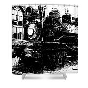 The Hurricane Express Homage 1932 19th Century Locomotive Ghost Town Nevada City Montana Shower Curtain