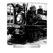 The Hurricane Express Homage 1932 19th Century Locomotive Ghost Town Nevada City Montana Shower Curtain