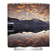 The Hut By The Lake Shower Curtain