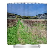 The Ice Age Trail Shower Curtain by Jonah  Anderson