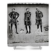 Homage To Banksy Shower Curtain