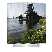 The Iconic Windmills Of  Holland  Shower Curtain