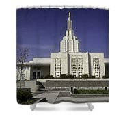 The Idaho Falls Mormon Temple Shower Curtain