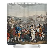 The Idle Prentice Executed At Tyburn Shower Curtain