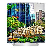 The Illuminated Crowd Of Montreal Shower Curtain