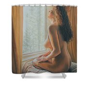The Incredible Lightness Of Being Shower Curtain