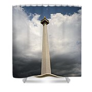 The Independence Monument Shower Curtain