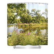 The Indiana Wetlands 2 Shower Curtain