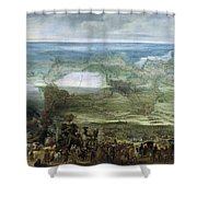 The Infanta Isabella Clara Eugenia At The Siege Of Breda Of 1624 Shower Curtain