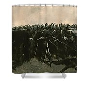 The Infantry Square Shower Curtain