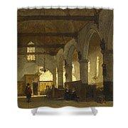 The Interior Of The Bakenesserkerk. Haarlem Shower Curtain