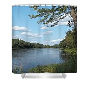 The Intervale On The Piscataquis River Shower Curtain