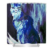 The Intuitive Silence Trembling With A Name Shower Curtain