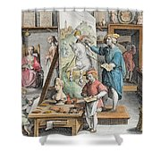 The Invention Of Oil Paint, Plate 15 Shower Curtain
