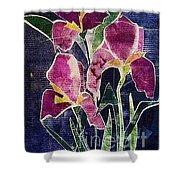 The Iris Melody Shower Curtain