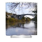 The Iron Bridge 2 Shower Curtain