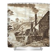 The Iron Forge Between Dolgelli Shower Curtain