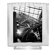 The Iron Hell Stairs Shower Curtain