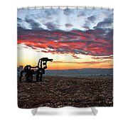 The Iron Horse Early Dawn The Iron Horse Collection Art Shower Curtain