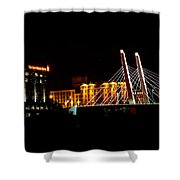 The Iron Horse And 6th Street Bridge Shower Curtain