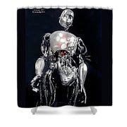 The Iron Robot Shower Curtain
