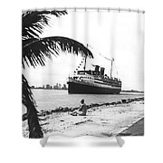 The Iroquois In Biscayne Bay Shower Curtain