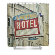The Irving Hotel In Chicago Shower Curtain