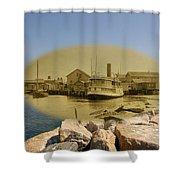 The Islander At Sakonnet Point In Little Compton Rhode Island Shower Curtain