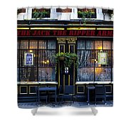 The Jack The Ripper Pub Shower Curtain