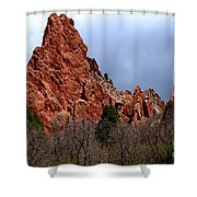 The Jagged Edges Shower Curtain