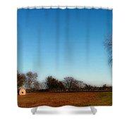 The Jamestown Windmill Shower Curtain