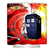 The Japanese Dr. Who Shower Curtain
