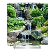 The Japanese Garden Shower Curtain by Bill Cannon