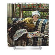 The Japanese Scroll Shower Curtain