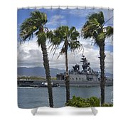 The Japanese Self Defense Force Ship Js Shower Curtain